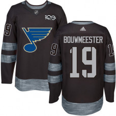 Jay Bouwmeester Premier St. Louis Blues 1917-2017 100th Anniversary #19 Black Jersey