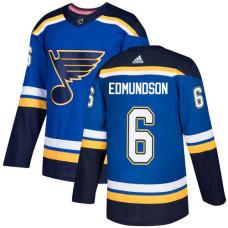 Youth Joel Edmundson Authentic St. Louis Blues #6 Royal Blue Home Jersey