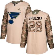 Kyle Brodziak Authentic St. Louis Blues #28 Camo Veterans Day Practice Jersey