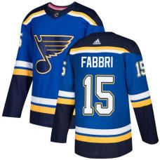 Robby Fabbri Premier St. Louis Blues #15 Royal Blue Home Jersey