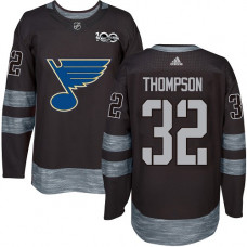 Tage Thompson Authentic St. Louis Blues 1917-2017 100th Anniversary #32 Black Jersey