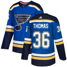 Robert Thomas Authentic St. Louis Blues #36 Royal Blue Home Jersey