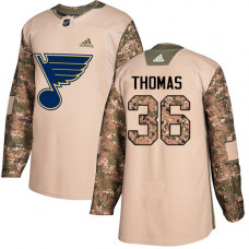 Robert Thomas Authentic St. Louis Blues #36 Camo Veterans Day Practice Jersey
