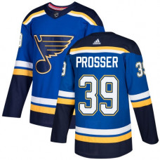Nate Prosser Authentic St. Louis Blues #39 Royal Blue Home Jersey