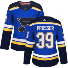 Women's Nate Prosser Authentic St. Louis Blues #39 Royal Blue Home Jersey