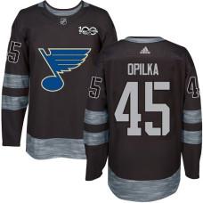 Luke Opilka Premier St. Louis Blues 1917-2017 100th Anniversary #45 Black Jersey
