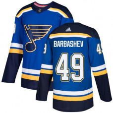 Ivan Barbashev Authentic St. Louis Blues #49 Royal Blue Home Jersey