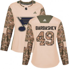 Women's Ivan Barbashev Authentic St. Louis Blues #49 Camo Veterans Day Practice Jersey
