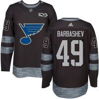 Ivan Barbashev Premier St. Louis Blues 1917-2017 100th Anniversary #49 Black Jersey