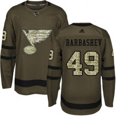 Youth Ivan Barbashev Authentic St. Louis Blues #49 Green Salute to Service Jersey