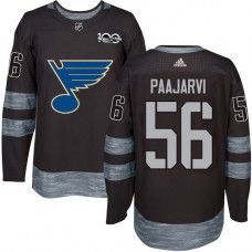 Magnus Paajarvi Premier St. Louis Blues 1917-2017 100th Anniversary #56 Black Jersey