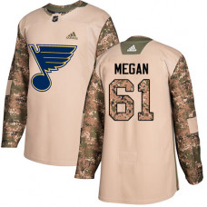 Wade Megan Authentic St. Louis Blues #61 Camo Veterans Day Practice Jersey