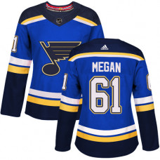 Women's Wade Megan Authentic St. Louis Blues #61 Royal Blue Home Jersey