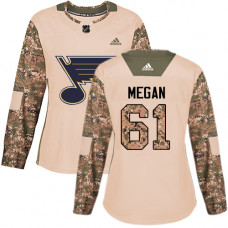 Women's Wade Megan Authentic St. Louis Blues #61 Camo Veterans Day Practice Jersey