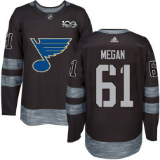 Wade Megan Authentic St. Louis Blues 1917-2017 100th Anniversary #61 Black Jersey