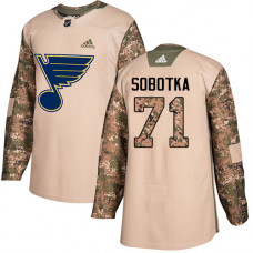 Vladimir Sobotka Authentic St. Louis Blues #71 Camo Veterans Day Practice Jersey