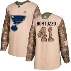 Robert Bortuzzo Authentic St. Louis Blues #41 Camo Veterans Day Practice Jersey