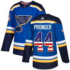 Youth Chris Pronger Authentic St. Louis Blues #44 Blue USA Flag Fashion Jersey