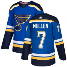 Joe Mullen Authentic St. Louis Blues #7 Royal Blue Home Jersey