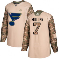 Joe Mullen Authentic St. Louis Blues #7 Camo Veterans Day Practice Jersey