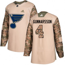 Youth Carl Gunnarsson Authentic St. Louis Blues #4 Camo Veterans Day Practice Jersey