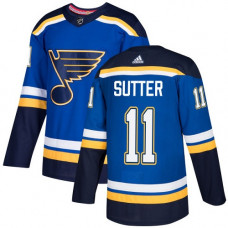 Brian Sutter Authentic St. Louis Blues #11 Royal Blue Home Jersey