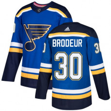 Martin Brodeur Authentic St. Louis Blues #30 Royal Blue Home Jersey