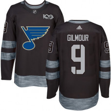 Doug Gilmour Premier St. Louis Blues 1917-2017 100th Anniversary #9 Black Jersey
