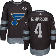 Carl Gunnarsson Authentic St. Louis Blues 1917-2017 100th Anniversary #4 Black Jersey