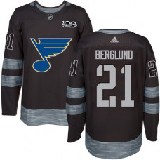 Patrik Berglund Premier St. Louis Blues 1917-2017 100th Anniversary #21 Black Jersey