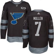 Joe Mullen Authentic St. Louis Blues 1917-2017 100th Anniversary #7 Black Jersey