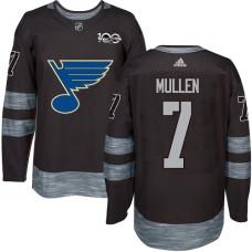 Joe Mullen Premier St. Louis Blues 1917-2017 100th Anniversary #7 Black Jersey