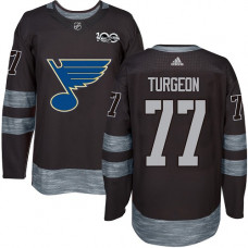 Pierre Turgeon Premier St. Louis Blues 1917-2017 100th Anniversary #77 Black Jersey
