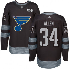 Jake Allen Authentic St. Louis Blues 1917-2017 100th Anniversary #34 Black Jersey