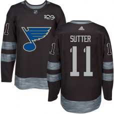 Brian Sutter Authentic St. Louis Blues 1917-2017 100th Anniversary #11 Black Jersey