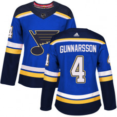 Women's Carl Gunnarsson Authentic St. Louis Blues #4 Royal Blue Home Jersey