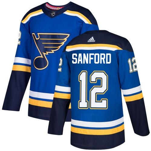 Zach Sanford Premier St. Louis Blues #12 Royal Blue Home Jersey