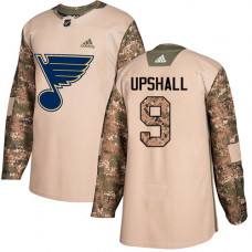 Youth Scottie Upshall Authentic St. Louis Blues #9 Camo Veterans Day Practice Jersey