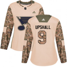Women's Scottie Upshall Authentic St. Louis Blues #9 Camo Veterans Day Practice Jersey