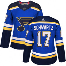 Women's Jaden Schwartz Authentic St. Louis Blues #17 Royal Blue Home Jersey