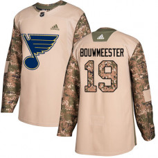 Youth Jay Bouwmeester Authentic St. Louis Blues #19 Camo Veterans Day Practice Jersey