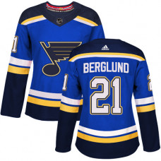 Women's Patrik Berglund Authentic St. Louis Blues #21 Royal Blue Home Jersey