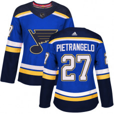 Women's Alex Pietrangelo Authentic St. Louis Blues #27 Royal Blue Home Jersey