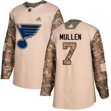Youth Joe Mullen Authentic St. Louis Blues #7 Camo Veterans Day Practice Jersey