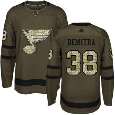 Youth Pavol Demitra Premier St. Louis Blues #38 Green Salute to Service Jersey