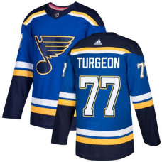 Youth Pierre Turgeon Authentic St. Louis Blues #77 Royal Blue Home Jersey