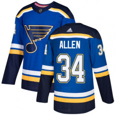 Youth Jake Allen Authentic St. Louis Blues #34 Royal Blue Home Jersey