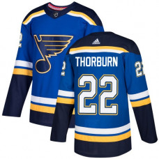 Chris Thorburn Authentic St. Louis Blues #22 Royal Blue Home Jersey