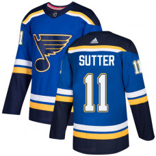Youth Brian Sutter Authentic St. Louis Blues #11 Royal Blue Home Jersey