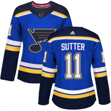 Women's Brian Sutter Authentic St. Louis Blues #11 Royal Blue Home Jersey